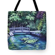 Japanese Garden Bridge San Francisco California Tote Bag