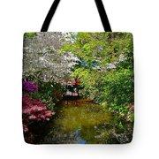 Japanese Garden In Bloom Tote Bag