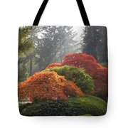 Japanese Garden In The Fall Season Tote Bag