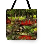 Japanese Garden - Meditation Tote Bag by Mike Savad