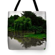 Japanese Garden Point Tote Bag