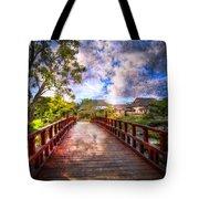 Japanese Gardens Tote Bag by Debra and Dave Vanderlaan
