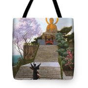 Japanese Imploring A Divinity Tote Bag