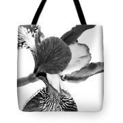 Japanese Iris Flower Monochrome Tote Bag