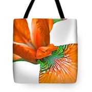 Japanese Iris Orange White Five Tote Bag