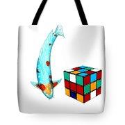 Japanese Koi Ochiba Cubism Painting Tote Bag