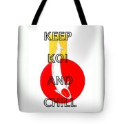 Japanese Koi Tancho Red And Gold Painting Tote Bag