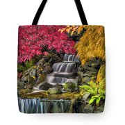 Japanese Laced Leaf Maple Trees In The Fall Tote Bag