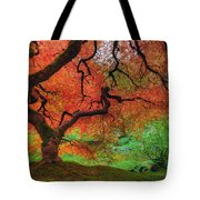 Japanese Maple Tree In Autumn Tote Bag
