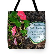 Japanese Proverb Tote Bag