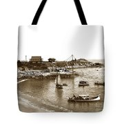 Japanese Tea Garden Glass Bottom Boats At Lovers Point Pacific Grove California Circa 1907 Tote Bag