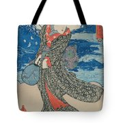Japanese Woman By The Sea Tote Bag