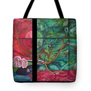 Japanesse Flower Arrangment Tote Bag