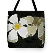 Jasmine Expressive Brushstrokes Tote Bag