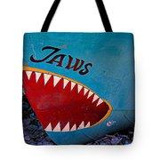Jaws Boat Bow Tote Bag