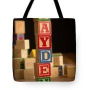 Jayden - Alphabet Blocks Tote Bag