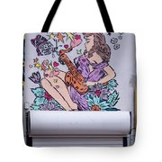 Jazz And Butterflies Tote Bag