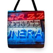 Jazz Funeral And Lamp Nola Tote Bag
