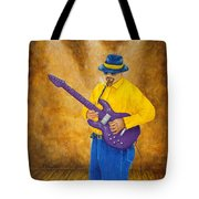 Jazz Guitar Man Tote Bag