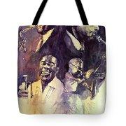 Jazz Legends Parker Gillespie Armstrong  Tote Bag