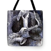 Jazz Saxophonist John Coltrane Black Tote Bag