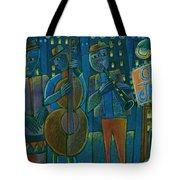 Jazz Time At Club Jazz Tote Bag