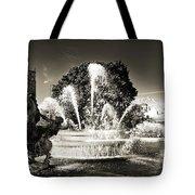 Jc Nichols Memorial Fountain Bw 1 Tote Bag