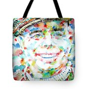 Jean Renoir Watercolor Portrait Tote Bag