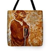Jedi Master Yoda Digital From Original Coffee Painting Tote Bag