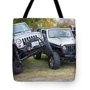 Jeeps In Juxtaposition Tote Bag