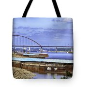 Jefferson Barracks Bridge A View From Cliff Cave Tote Bag