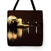 Jefferson Memorial From Across The Tidal Pool Tote Bag