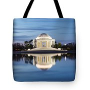 Washington Dc Jefferson Memorial In Blue Hour Tote Bag