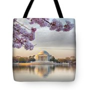 Jefferson Memorial In The Early Morning Tote Bag