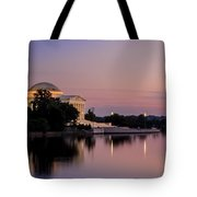Jefferson Memorial Sunset Tote Bag