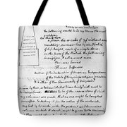Jefferson: Tombstone Tote Bag