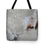 Jelly Ball And Oyster Shell Washed Upon Nc Beach Tote Bag