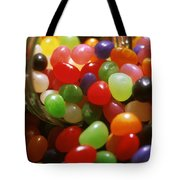 Jelly Beans Spilling Out Of Glass Jar Tote Bag
