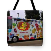 Jelly Belly On Wheels Tote Bag