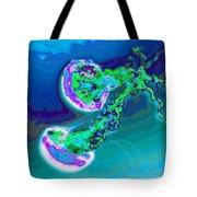 Jelly Fish Pop Art Blue Tote Bag