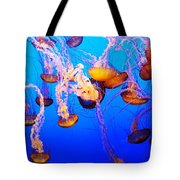 Jellyfish In Abundance Tote Bag