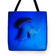 Surreal Australian Jellyfish In Blue Tote Bag