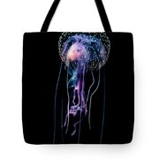 Jellyfish  Pelagia Noctiluca  With Fish Tote Bag