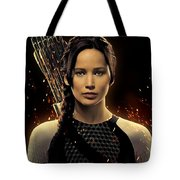Jennifer Lawrence As Katniss Everdeen Tote Bag