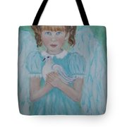 Jenny Little Angel Of Peace And Joy Tote Bag by The Art With A Heart By Charlotte Phillips