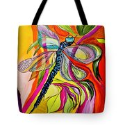 Jenny's Dragonfly In Acrylic Tote Bag
