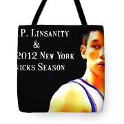 Jeremy Lin New York Knicks Season Tote Bag by Lanjee Chee