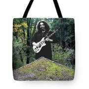 Jerry At The Pyramid In The Woods Tote Bag