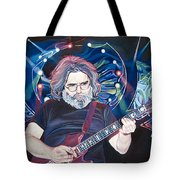 Jerry Garcia And Lights Tote Bag
