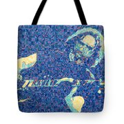 Jerry Garcia Chuck Close Style Tote Bag